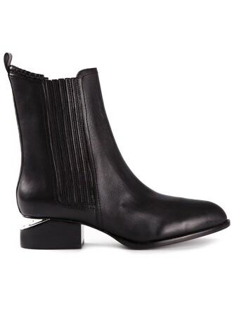 women boots black shoes