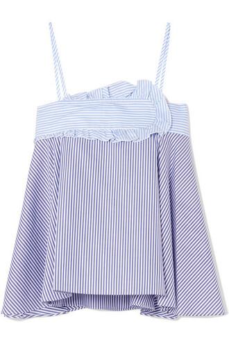 camisole cotton blue underwear