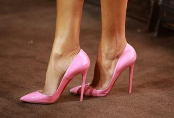 Baby pink heels sandals - photo#17
