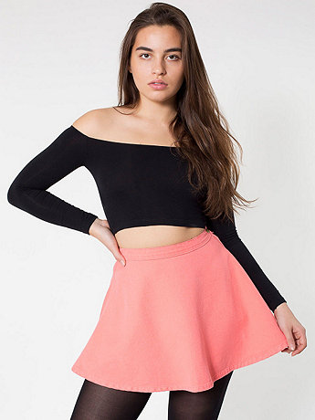 Natural Denim Circle Skirt | American Apparel