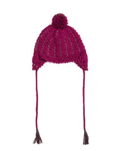 1e36e2f4251 bobble hat metallic hat burgundy