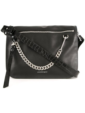 skull women bag shoulder bag black