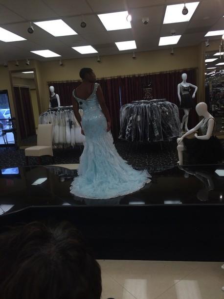 dress light blue dress cinderella gowns