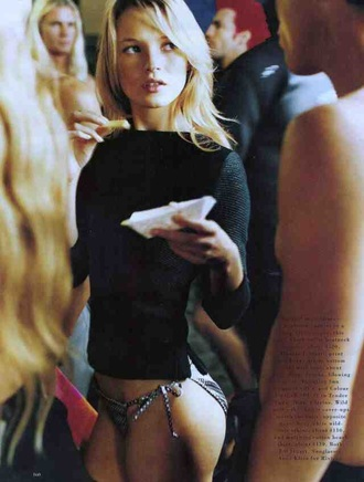 sweater swimwear kate moss beach