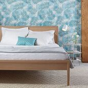 home accessory,bedding,duvet,coverlet,wall paper,unison,palm tree print,palm tree,bedroom