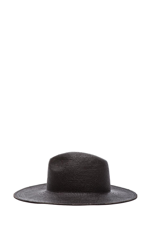 Rita straw hat in black