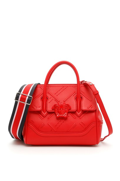 VERSACE embroidered bag red