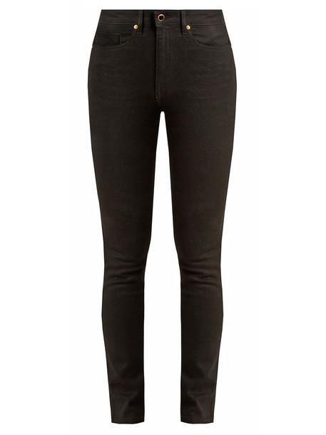 KHAITE jeans high black