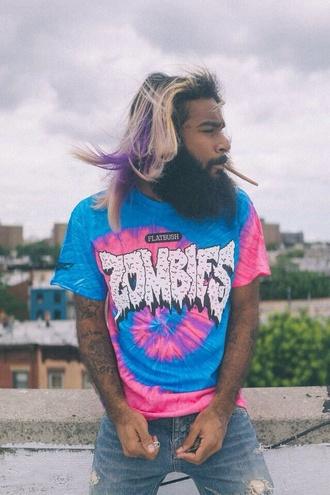 tie dye flatbush zombies menswear mens t-shirt