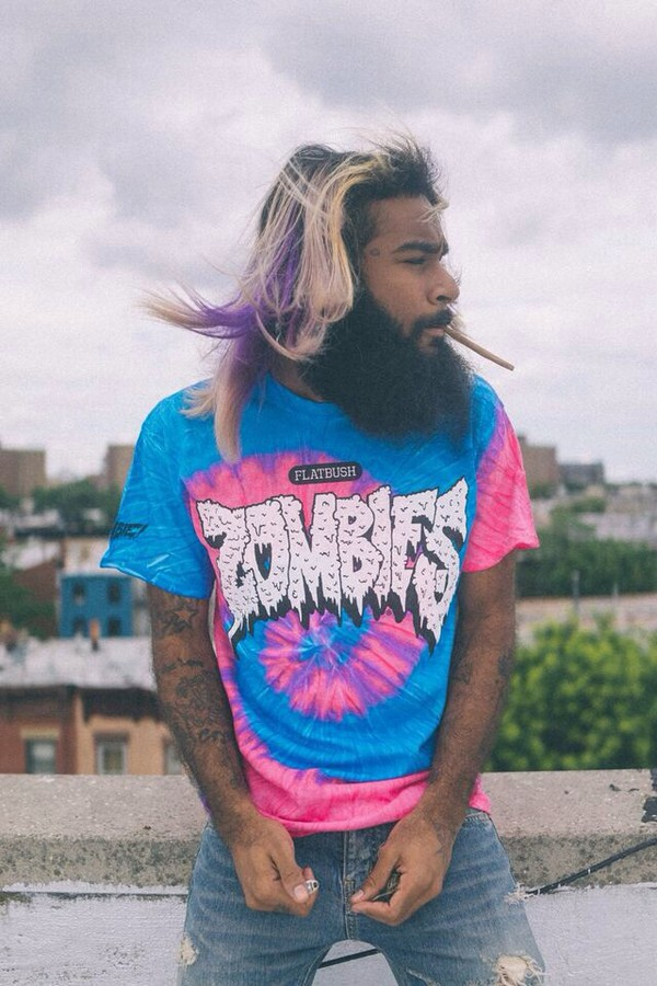 tie dye flatbush zombies menswear mens t-shirt