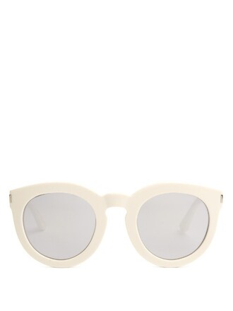 sunglasses silver white