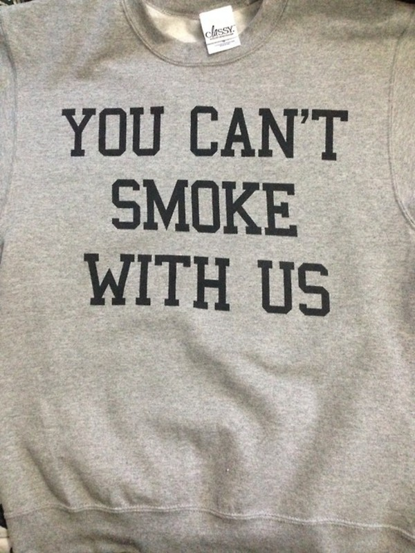 sweater t-shirt t-shirt bowls smoke pipe shirt