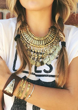 Vintage Coin Choker Necklace|Disheefashion