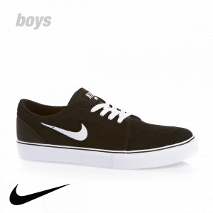 Nike Skateboarding Nike Satire (Gs) Shoes - Black/White Black Black