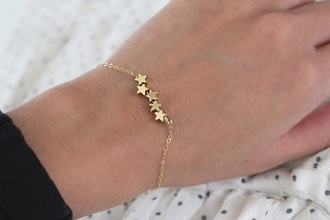 jewels bracelets stars gold
