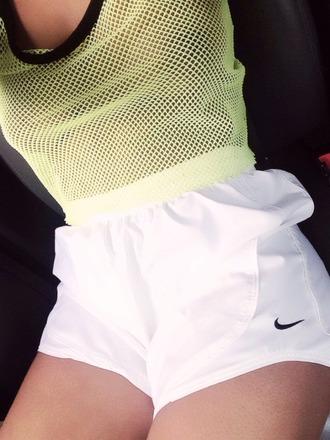 sportswear top fishnet