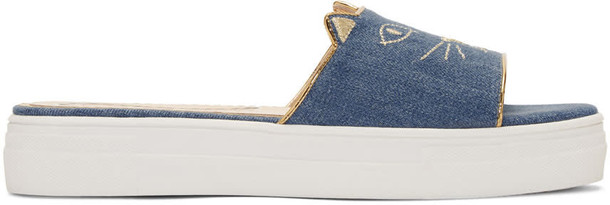 charlotte olympia denim pool blue shoes