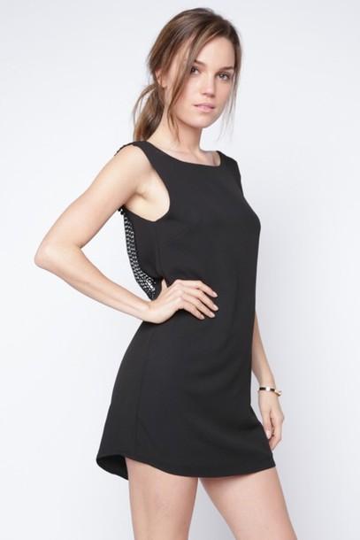 Dress Low Back Dress Black Dress Sleeveless Dress Shift Dress