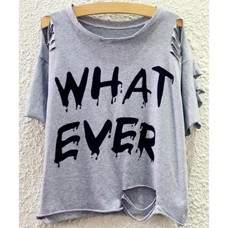 shirt grey quote on it ripped cool streetwear trendsgal.com
