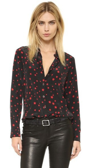 blouse cherry black red top