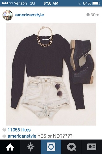 shorts highwaisted shorts hipster goth hipster girly bag cotton high waisted levi's shorts jewels sweater shoes