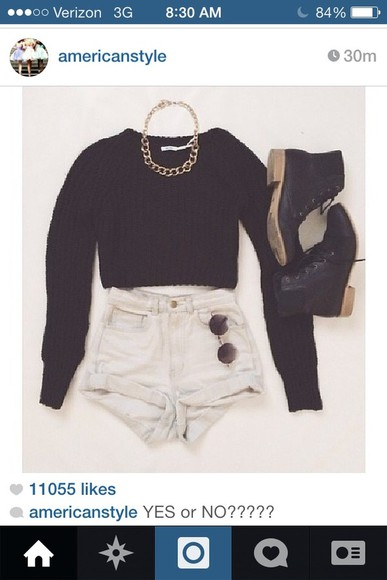 cotton shorts jewels hipster girly highwaisted shorts goth hipster bage high waisted levi's shorts