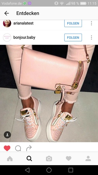 shoes sneakers pink sneakers giuseppe zanotti