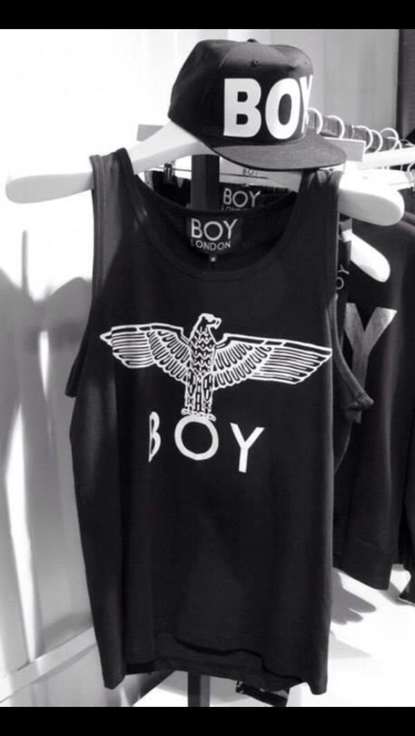 t-shirt boy london black white