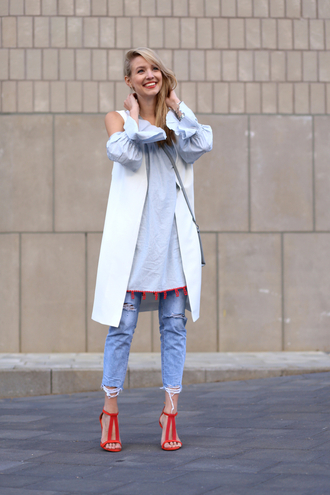 ohh couture blogger shoes dress jeans bag