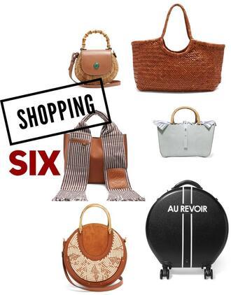 fashion foie gras blogger bag scarf basket bag round bag