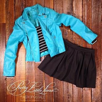 skirt jacket blue jacket blue jacket pretty little liars
