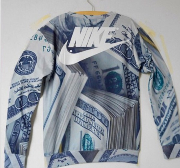 money money style sweater nike sweater winter sweater winter swag swag dope