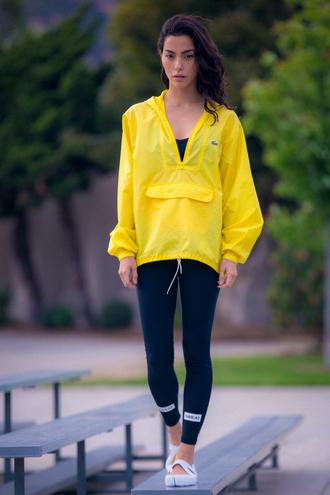 sweat the style blogger yellow windbreaker sportswear