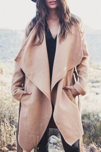 coat girl girly girly wishlist nude