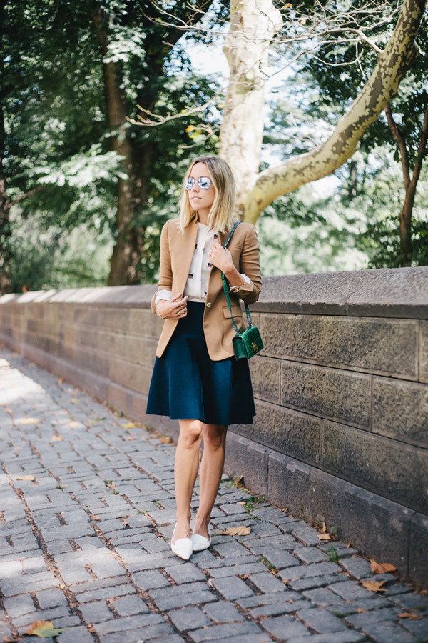 damsel in dior blogger skirt top jacket jewels bag