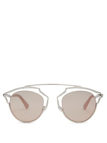 dior sunglasses aviator sunglasses pink