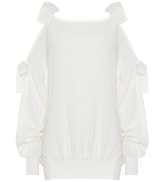 See By Chloé Wool and cotton sweater in white