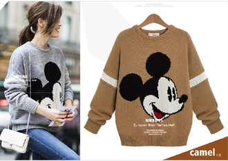 sweater hoodie cool winter sweater winter outfits windbreaker sportswear coat sweet long sleeves mickey mouse