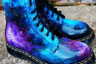 boots space shoes galaxy print galaxyboots cute grunge hipster shiny drmartens perfect nebula universe