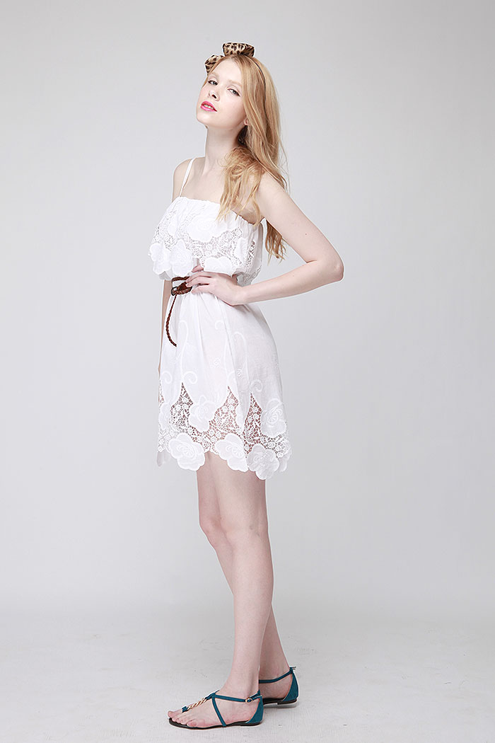 Bargle embroidery luxe dress