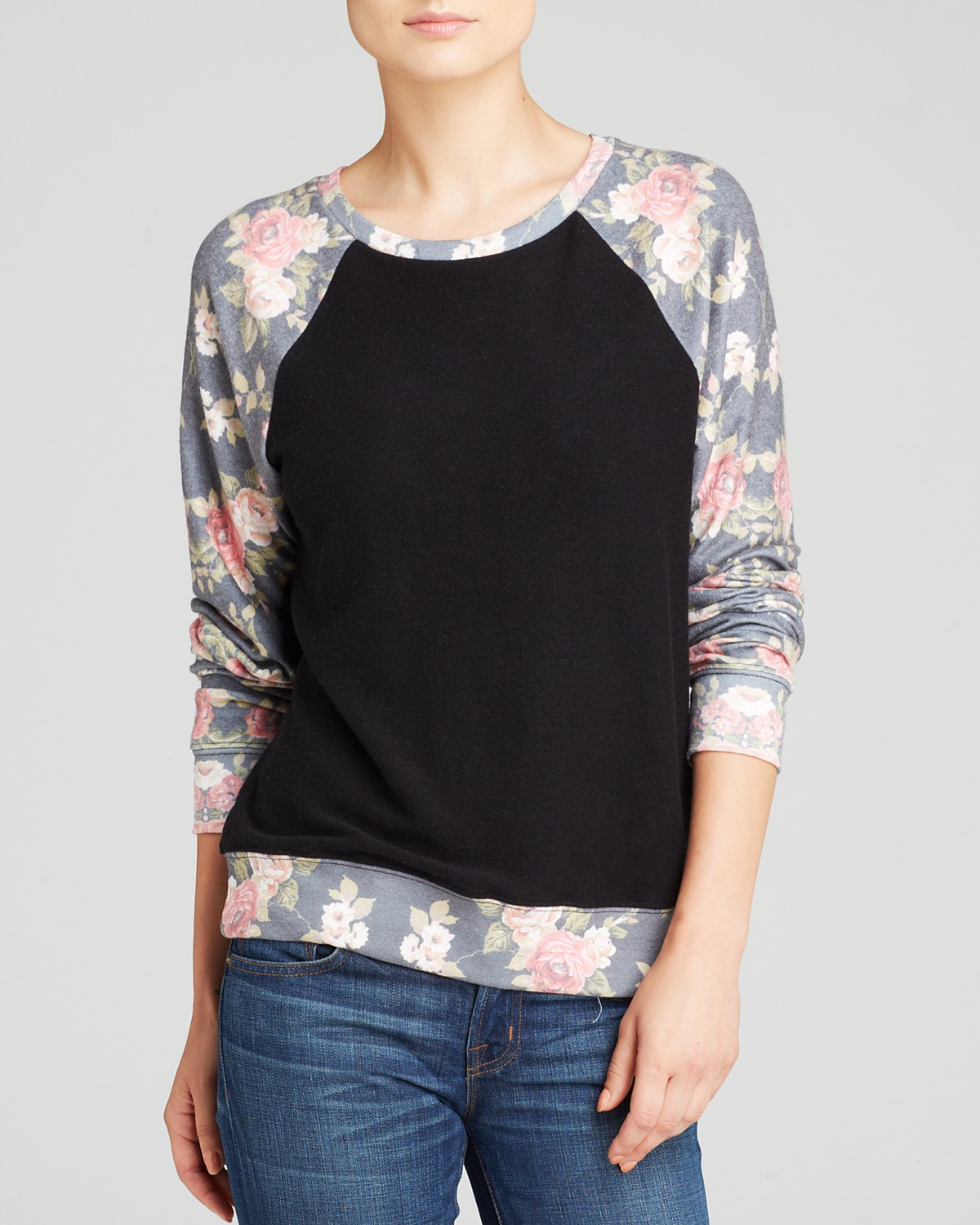 WILDFOX Pullover - Black Rose | Bloomingdale's