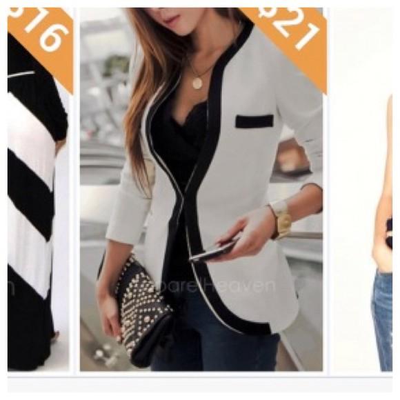 jacket white blazer blazer boyfriend blazer fitted blazer black casual formal