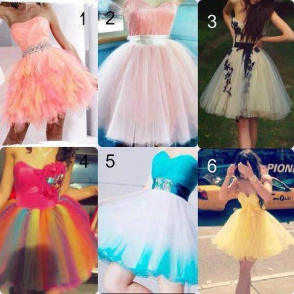 dress pink dress yellow dress rainbow dress