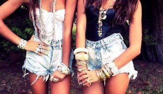 shorts top jewelry