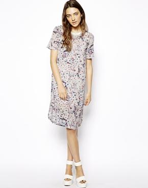 ASOS | ASOS Shift Dress In Pastel Floral Print at ASOS