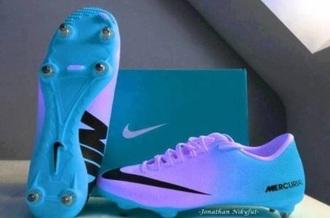 shoes blue soccer cleats tumblr purple
