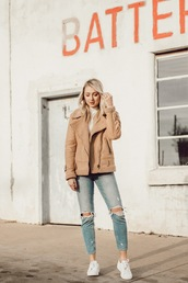 love,lenore,blogger,jacket,jeans,top,shoes,jewels,winter outfits,sneakers