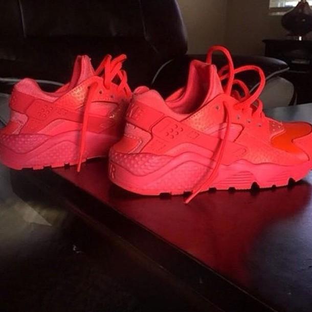 low priced 6021f e6ebf shoes nike huaraches red (hot lava