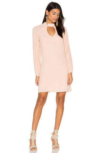 dress keyhole dress pink