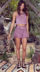 romper,purple,pink,two-piece,summer,spring,girly,free vibrationz